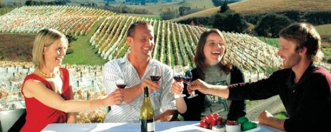 group of people enjoying Waipara Valley winery
