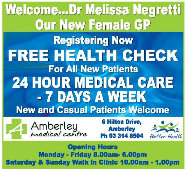 amberley med centre advert